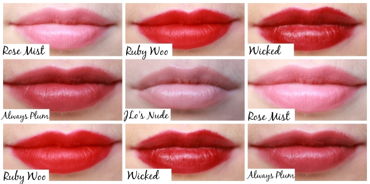 lip swatches with names
